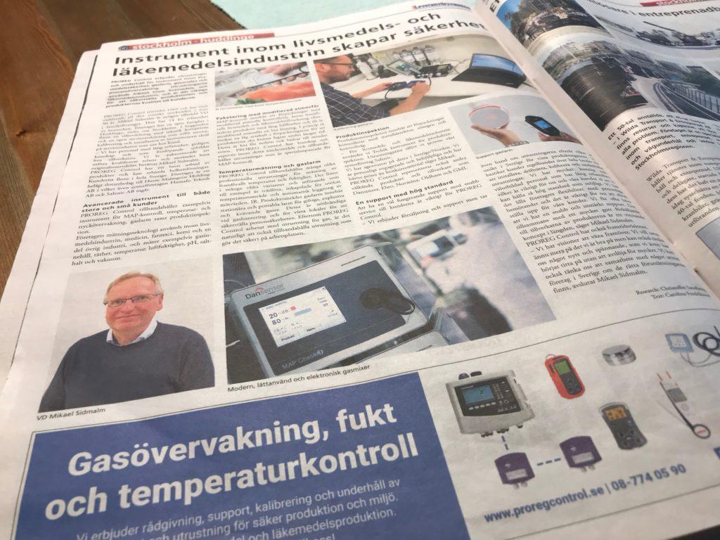 PROREG i Svensk Leverantörstidning